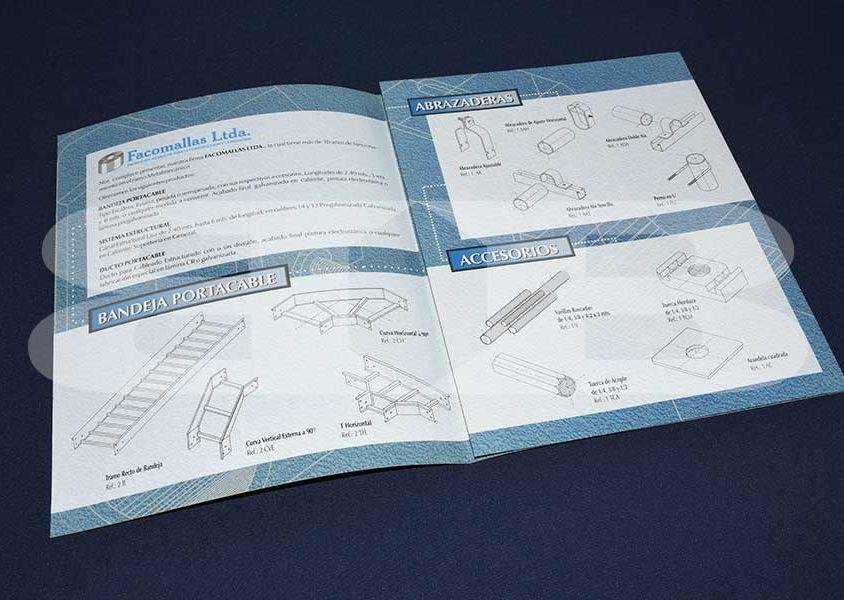 Impresión catálogo de producto Facomallas