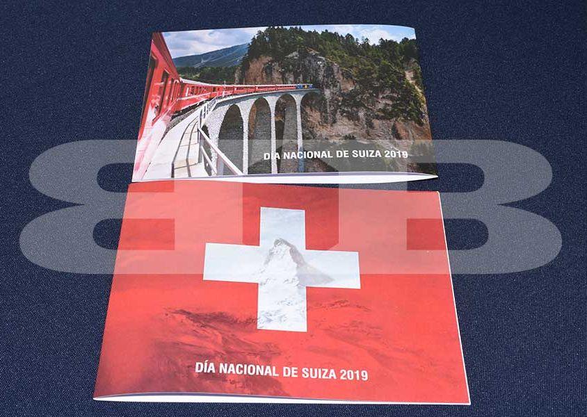 Diseño e impresión tarjeta de invitación Embajada Suiza