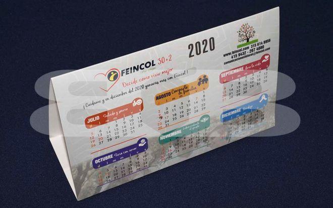 Calendario de mesa feincol