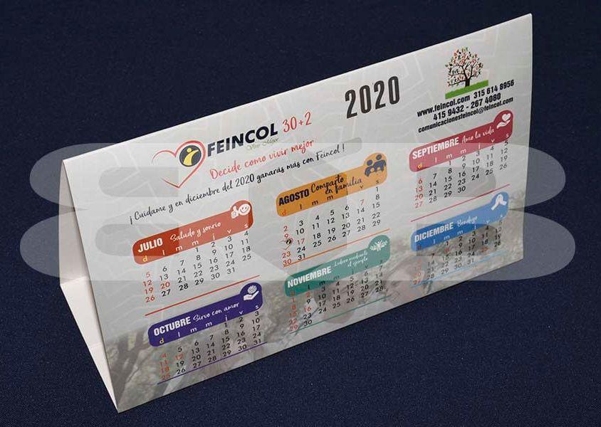 Impresión Calendario de mesa Feincol