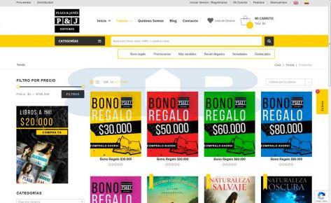 Pagina web plaza y janés Colombia