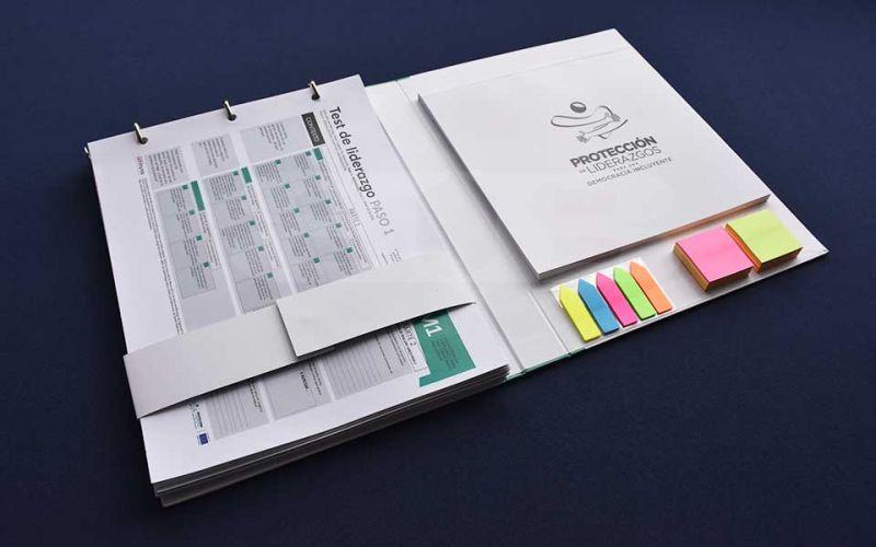 "Folder – Kit para curso ""Escuela de diálogo, innovación y liderazgo"""